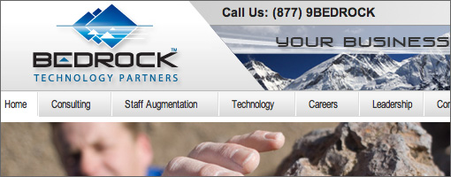 Bedrock Technology Partners Website Development - Small