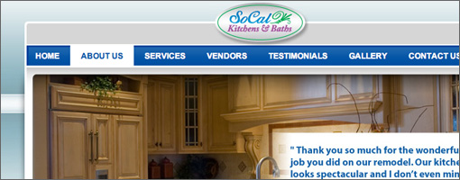 Socal Kitchen & Baths Website Development - Small